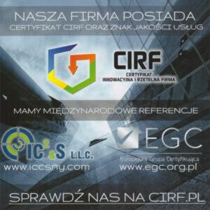certyfikat CIRF
