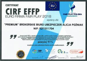 Euro firma FAIR PLAY 2018