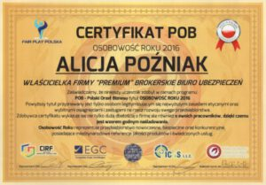 Certyfikat POB